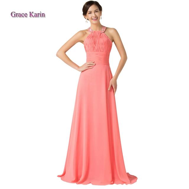 Sandía 2016 Elegante gracia karin Halter diseño largo de Color Rosa ...