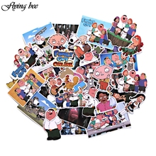 Get more info on the Flyingbee 55 Pcs Family Guy funny Anime Sticker Decals Scrapbooking Stickers for DIY Luggage Laptop Skateboard Car X0010