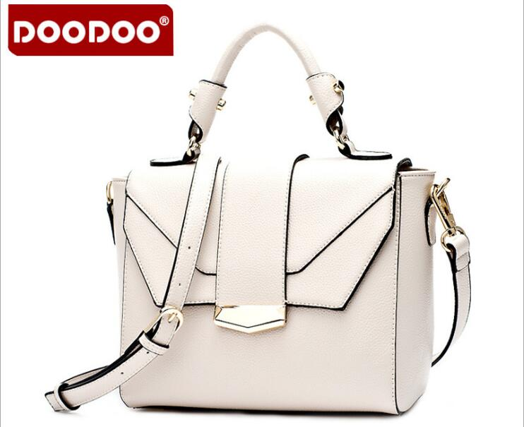 DOODOO Brand Leather Tote Bag Shoulder Bag Women Messenger Bags Handbag Famous Brands Crossbody Bags For Women bolsa FR409 women handbag shoulder bag messenger bag casual colorful canvas crossbody bags for girl student waterproof nylon laptop tote