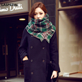 LASPERAL Brands Scarf  Women Winter Green Plaid Scarves Knitted Long Scarf Female Warm Autumn Shawls Cotton Scarves 190x50cm