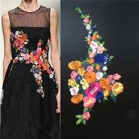 Цвет цветок заплатам Большой ткани к одежде аппликация для футболка свитер одежда украшения пришить патчи