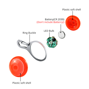 Image 3 - LED Safety Pet Dog Cat Collar Glowing Keychain Night Light Pendant Necklace Pet Luminous Bright Glowing Collar in Dark lamp