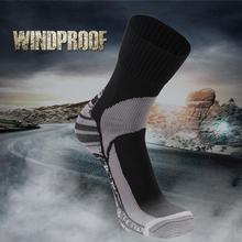RANDY SUN 1 Pair Windproof Thermal Socks Not Waterproof forOutdoor Sports Socks Hiking  Climbing Cycling Antibacterial