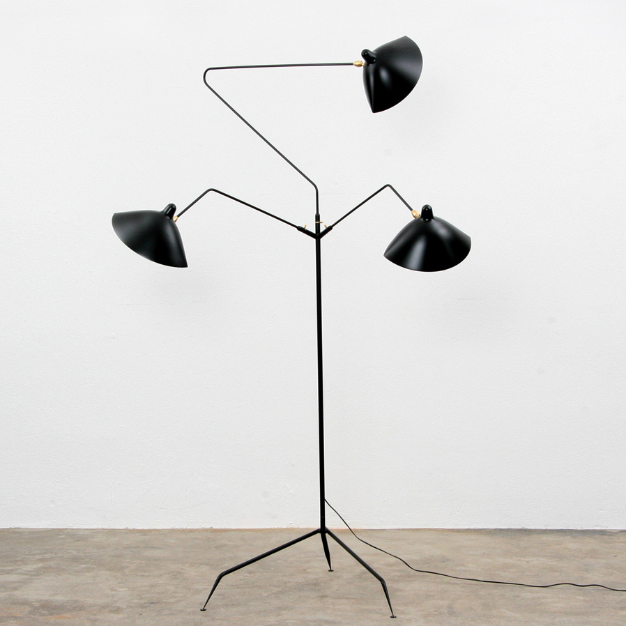 Favori STANDING LAMP 3 ARMS by Serge Mouille floor light contemporary  CT42