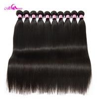 Ali Coco бразильские прямые волосы 10 пучков 8-30 дюймов 100% человеческих волос плетение пучков без remy волос настроить логотип