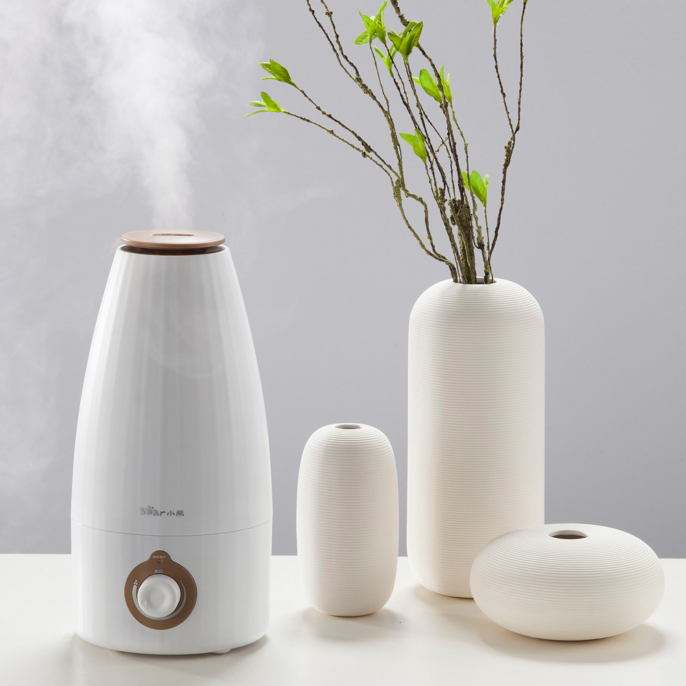 220V 2L Bear Air Humidifiers Ultrasonic Aromatherapy Air Purifier JSQ A20B1 Humidifiers Water Shortage Auto off
