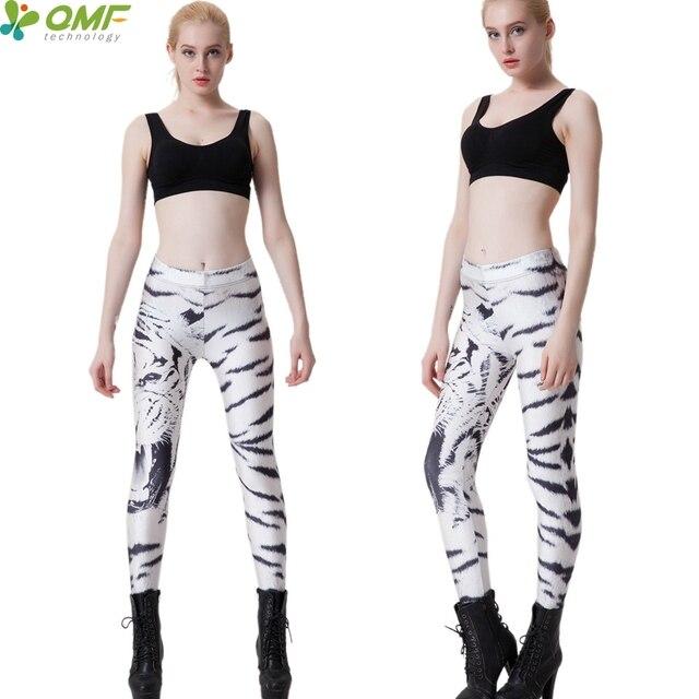 Witte Sportlegging.Zwart Witte Tijger Sport Legging Running Panty Leopard Sportkleding