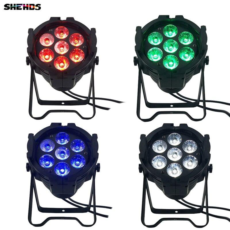 4pcs/lot LED Par Can 7x12W Aluminum alloy LED Par RGBW 4in1 DMX512 Wash dj stage light disco party light Dj Lighting free shipping 8pcs lot led stage par light rgbw 4 color in 1 18x10w dj disco par 64 can lighting dmx 512 wash lights o