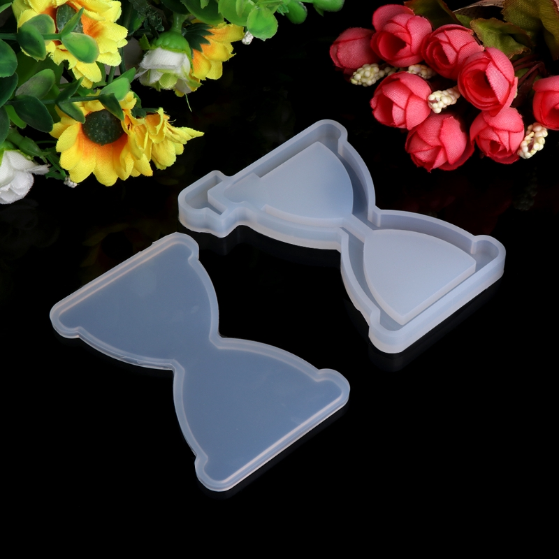 Transparent Silicone Pendant Mould Resin Hourglass Mudboard DIY Jewelry Making Tool Fondant Cake -W128