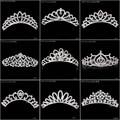 Crystal Rhinestone Diamante Bridal Princess Crown Hair Comb Hair Clip Tuck Tiara Ball Party Women Wedding Jewelry 10 Styles