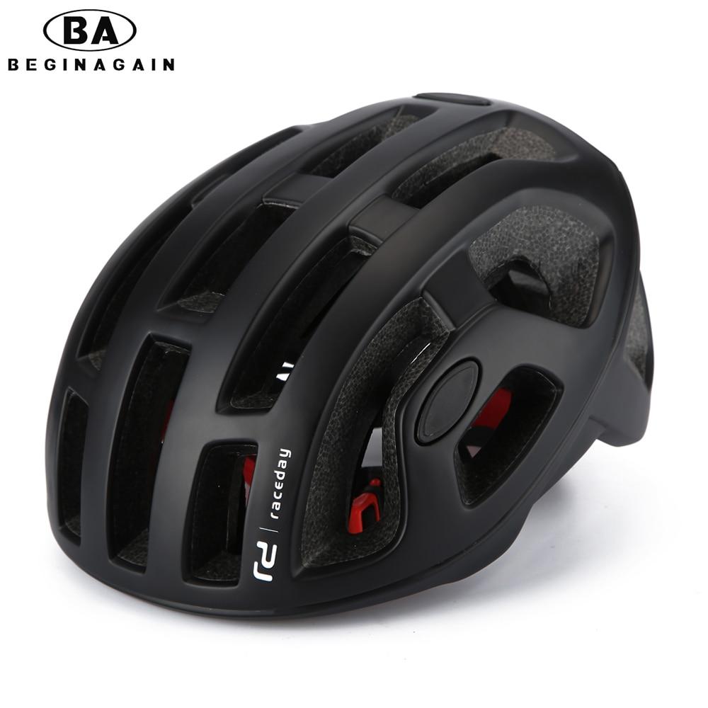 BEGINAGAIN Cycling Helmet Matte Pneumatic Mens Bicycle Helmet Professional Mountain helmet Racing Bike IN-MOLD Safely Cap