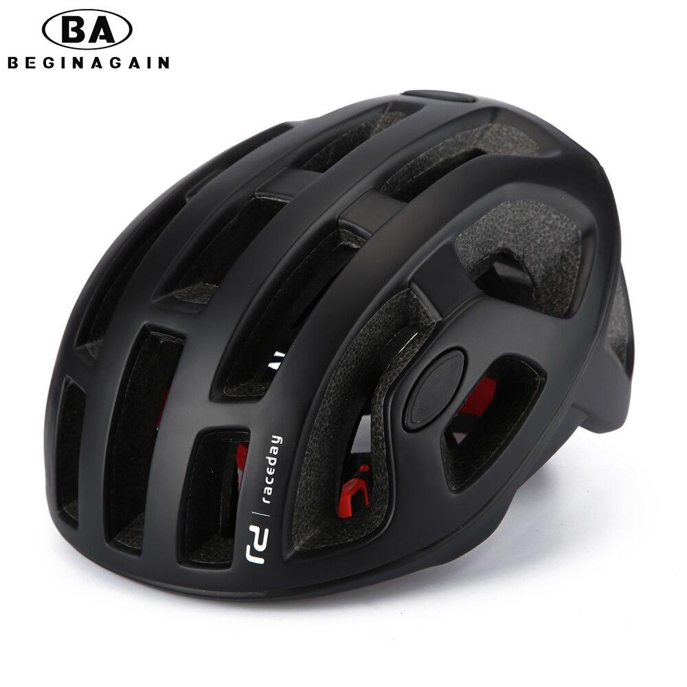Pneumático BEGINAGAIN Ciclismo Capacete Fosco Mens Capacete Da Bicicleta de Montanha Profissional Corridas capacete Da Bicicleta NO MOLDE Com Segurança Cap