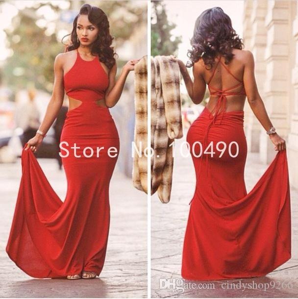 3efb48766b Vestidos rojos de fiesta largos espalda descubierta - Vestidos formales