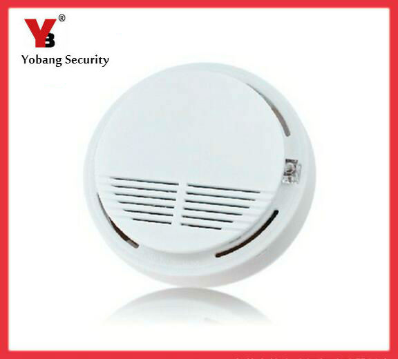 Yobang Security-Smoke Detector Fire Alarm Sensor Monitor For Home Security Photoelectric Smoke Alarm Independent Smoke Sensor