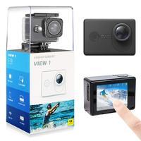 Высокая Великий вид действия Камера 4 K/30FPS 2,0 'Экран 1080 p водонепроницаемый Cam Спорт FOV152 градусов видео камера с приложением Управление