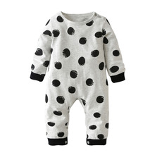 Autumn 2017 New Baby Romper Long-sleeved Dot Newborn Toddler Jumpsuit Baby Boys Girls Clothes Infant Clothing