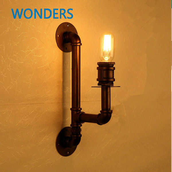 110-220v Loft American country Industrial style Iron Retro Water pipe Wall lamps Vintage Lighting E27 Edison bulb wall Lights american country industrial style wall lights loft 3 heads water pipe wall sconce vintage bronze wall lamp iron art lustre