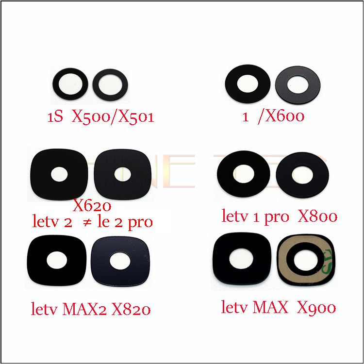 2x Rear Back Camera Glass Lens For Letv LeEco Le 11S Pro 2  Le 3 Pro MAX  Max 2 X820 X500 X501 X600 X620 X800 X900 X720