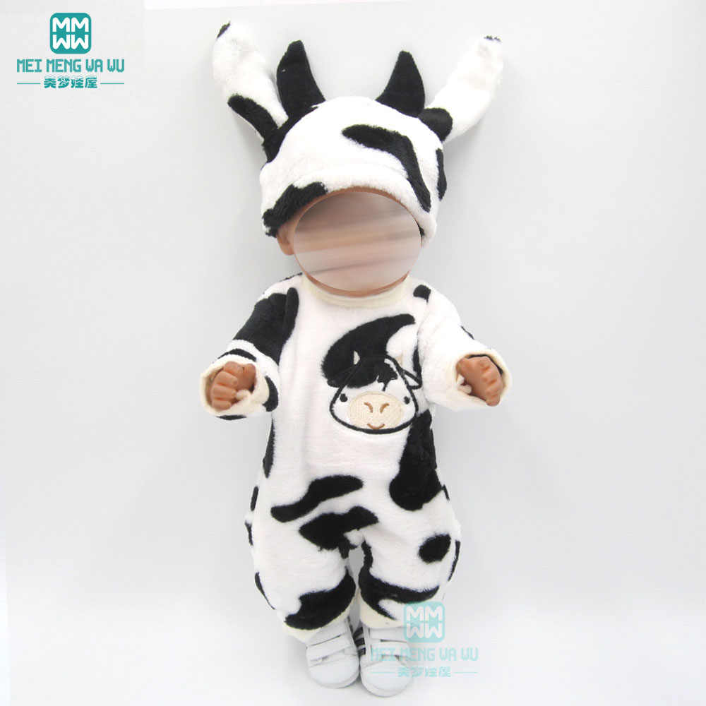 Одежда для куклы подходит 43 см для ухода за ребенком для мам, новая кукла-младенец розового цвета, в виде мультяшного ползунки для малыша одежда для детей