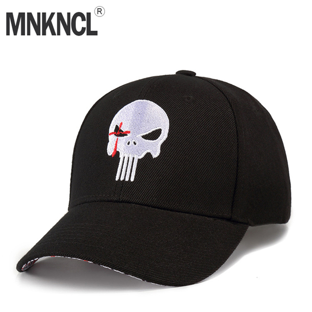2018 New High Quality Hero US Punisher Skull Logo Embroidere  Baseball Cap Snapback Hats Outdoor Casual & Sport Cap hats