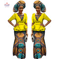 African Dresses for Women Half Sleeve Tops + Maxi Dress Party Dresses Bazin Riche Ankara Fashions African Clothes 6XL BRW WY1186