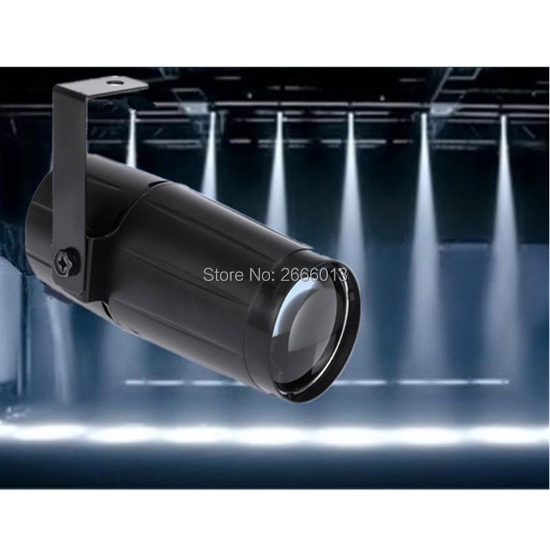 Total 5W LED Pinspot Light Spotlight Super Bright Lamp Mirror Balls DJ Disco Effect Stage Lighting for BAR KTV DJ LED Beam light
