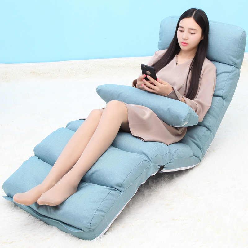 Składane szezlong Longue krzesło Sofa krzesło krzesło pierwszej klasy wypoczynek pościel Sofa regulowany leżak leżak z poduszką