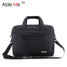 Klassische Schwarz Oxford Tuch Business Männer Aktentasche Große Kapazität Portable Document und Laptop Handtasche für Männer Tragetaschen