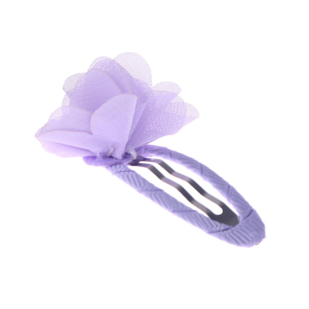5pcs/set Colorful Fashion Newborn Baby Mini Chiffon Flower Hair Clips Hair Sweet Girls Hairpins For Kids Hair Accessories