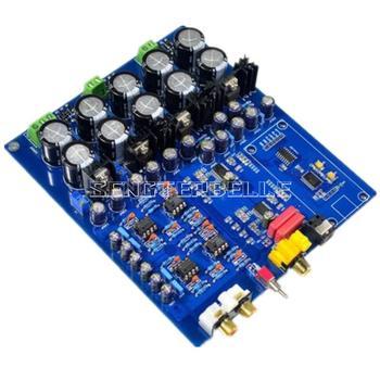 Assemled Dual chip AK4396VF+AK4113 decoder DAC board support fiber coaxial input