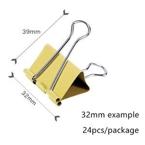 Набор цветных металлических зажимов для переплета, скрепки для бумаги, канцелярские принадлежности для переплета, 15 мм/19 мм/25 мм/32 мм/41 мм/51 мм на выбор