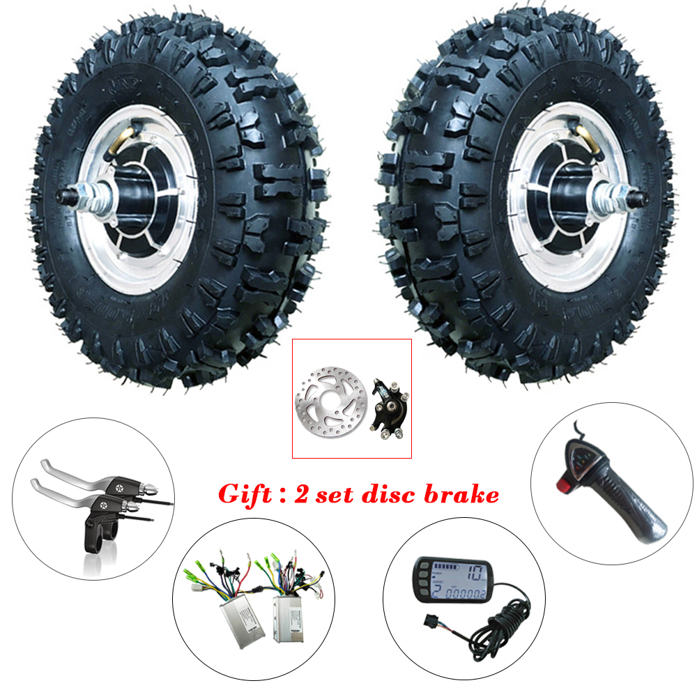 Double Drive 13 inch Ebike Conversion Kit 13'' Off-Road Electric Wheel Hub Motor 24-48v 350W-800W BLDC 12-50km/h With Reversing 2017 top fashion ebike kit bafang 36v250w front geared direct motor for ebike brushless hub motor 8fun electric wheel