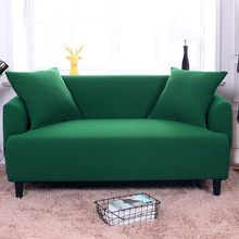 Sofa cover Universal Elastic solid color thickening cover for sofa 1/ 2 /3 /4-seater sofa Slipcover for living room(China)