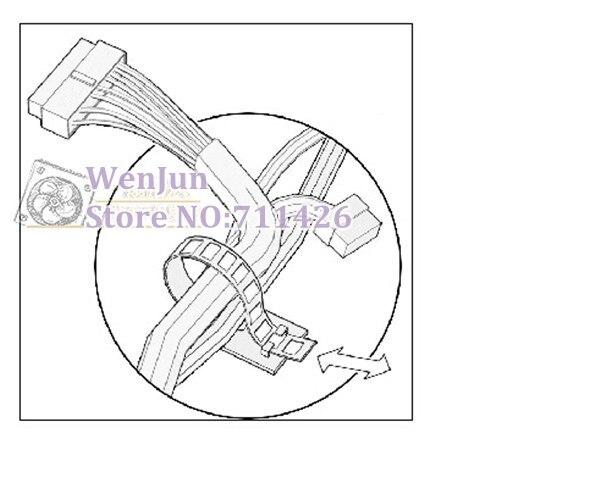 100pcs New Reusable Adhesive Cable Management Straps Cord Clips