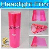 Fresh Wrap Pink PVC Headlight Film Car Protect Tint Lamp Film Graphics Body Wrap 30 cm x 10 m