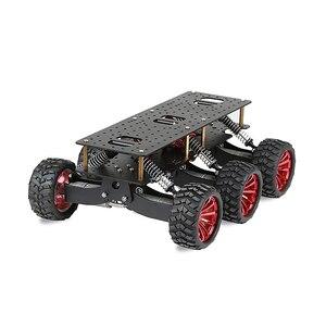Image 2 - 6WD金属ロボットクロスカントリーシャーシdiyプラットフォームarduinoのロボットwifi車オフロードクライミングラズベリーパイ色黒