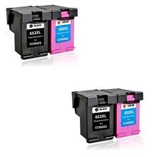 цены LuoCai compatible ink cartridges For HP652 For HP 652 XL Deskjet 1115 1118 2135 2136 2138 3635 3835 4535 4536 4675 printer 652XL