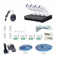 ESCAM NVR Kits PNK405 HD 1080p 4CH POE NVR Security System With Motion Detector Alarm Record