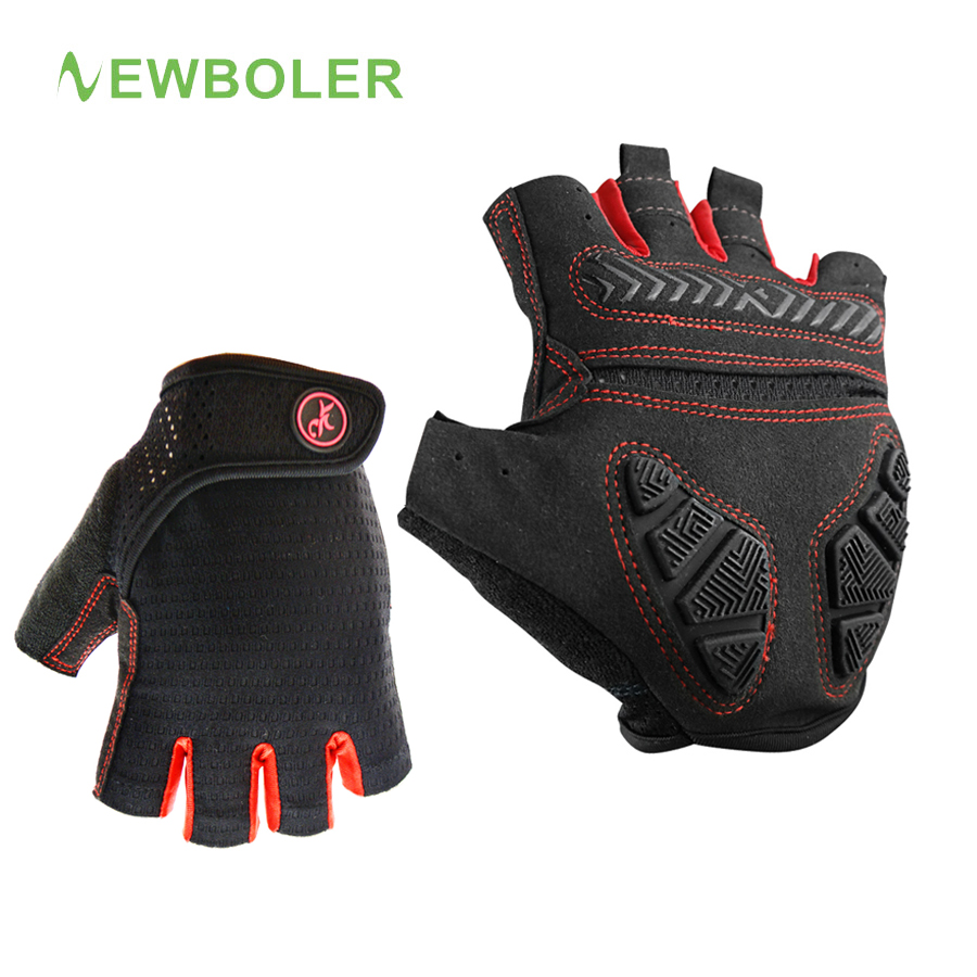 все цены на Cycling Gloves Summer Half Finger Silicone GEL Glove Mens Fingerless Breathable Shockproof MTB Bike Bicycle Outdoor Sport Gloves