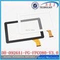 Original 9 ''pulgadas tablet PC de pantalla táctil DH-0926A1-PG-FPC080-V3.0 pantalla externa pantalla de la capacitancia Envío Libre