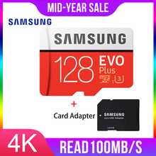 SAMSUNG tarjeta de Memoria Micro SD, 128GB EVO Plus Class10, TF, resistente al agua, para teléfonos inteligentes, 128g, Original, 95 MB/s