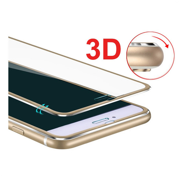 Clear Front Screen Protector For iPhone 6 Tempered Glass Full Cover Curved 3D Edge Titanium For iPhone 6 6s 7 7 Plus Glass