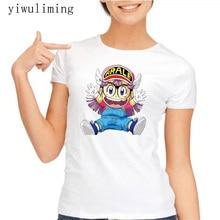 arale t shirt Funny Goku Switch Cloth With Arale T Shirt Anime Dragon Ball Cool T-shirt Fashion Design Printed Tshirt girls Tee