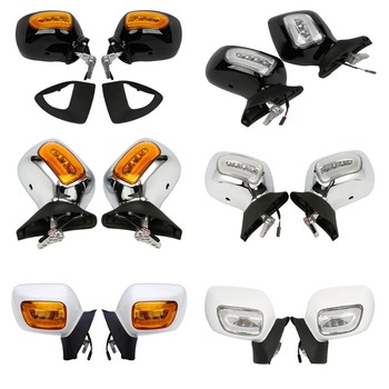 Motorcycle Rearview Mirrors + Orange/Clear Lens LED Turn Signals For Honda GL1800 F6B 13-17