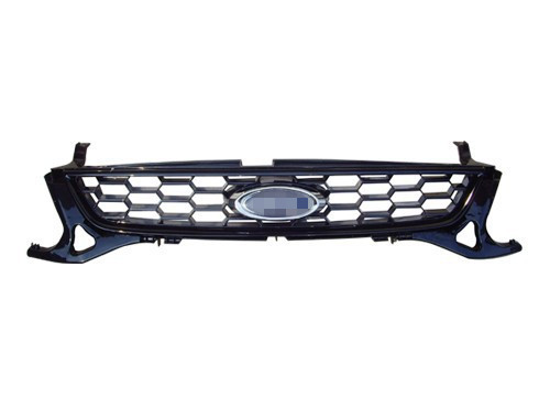 1 Piece Nest bee honeycomb Front bumper upper radiator grille grill for Ford Mondeo 2011-2012 front radiator centre grille panel for ford for focus mk3 st line radiator grill bumper honeycomb mesh cover moulding part