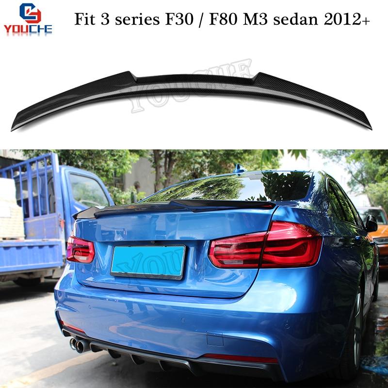 F30 Carbon Fiber Spoiler M4 Style Trunk Lid For BMW M3 F80 3 Series 2012 + 4-door Sedan 316i 318i 320i 320d 328iF30 Carbon Fiber Spoiler M4 Style Trunk Lid For BMW M3 F80 3 Series 2012 + 4-door Sedan 316i 318i 320i 320d 328i