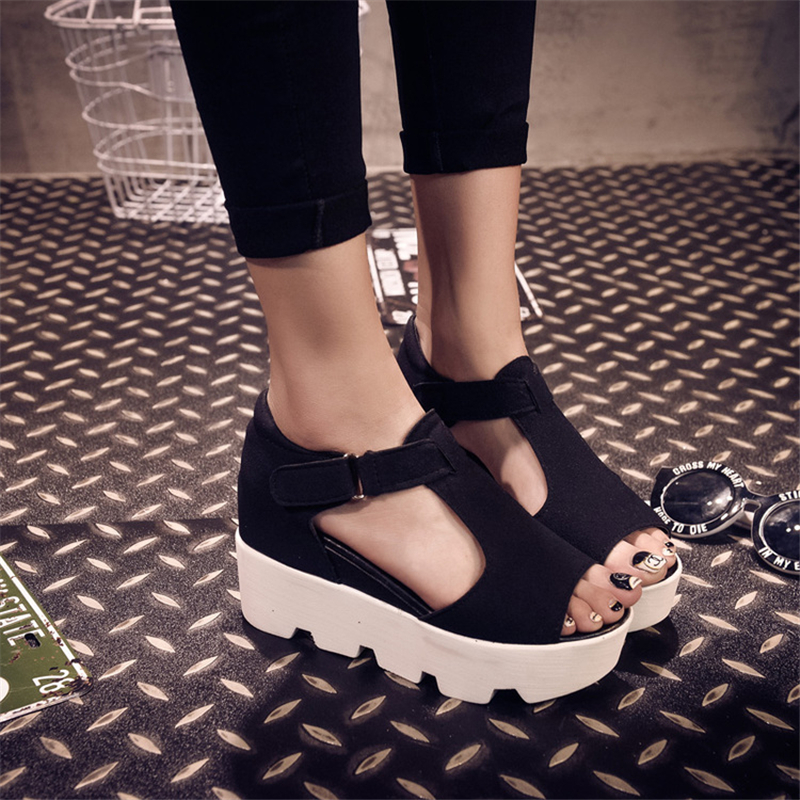 SUMMER STYLE 2017 Platform Sandals Shoes Women High Heel Casual Shoes Open Toe Platform Gladiator Trifle Sandals Women Shoes phyanic 2017 gladiator sandals gold silver shoes woman summer platform wedges glitters creepers casual women shoes phy3323