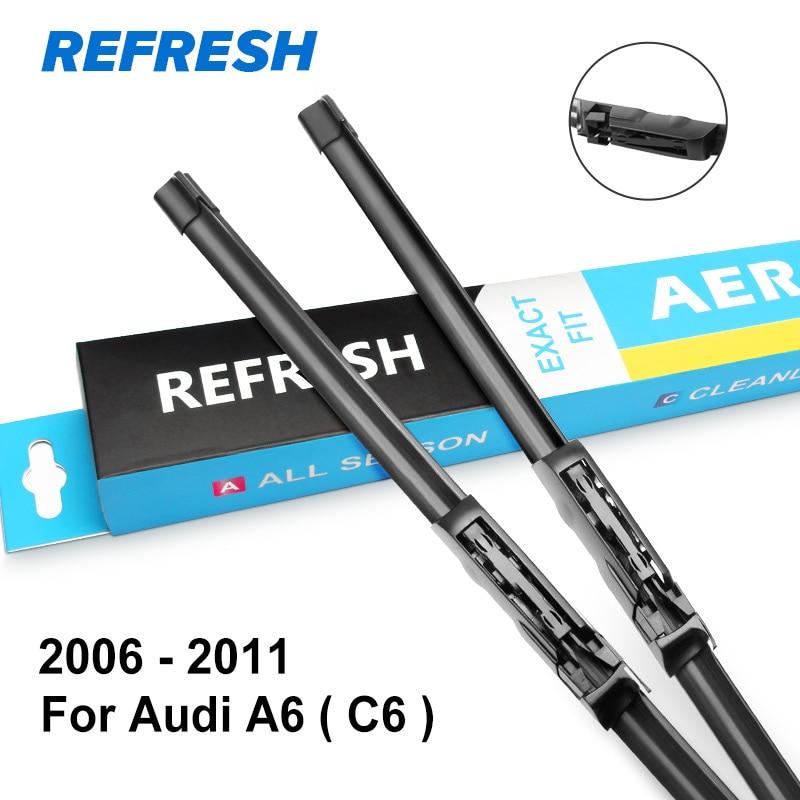 Обновляемые стеклоочистители для Audi A6 C5/C6/C7 подходящий крючок/слайдер/коготь/кнопочные ручки модель года от 1997 до - Цвет: 2006 - 2011 ( C6 )