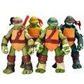 NUEVO Envío Libre 4 unids/lote Modelo juguetes de Acción y Del Juguete Figuras de Tortugas Animación modelo de artículos de tapicería WJ352