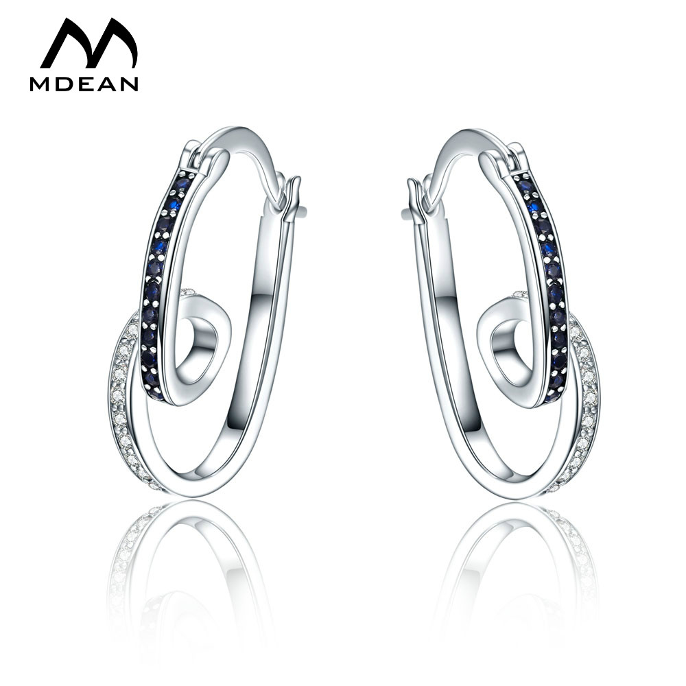 mdean white gold color brincos aaa zircon hoop earrings for women wedding boucle d 39 oreille. Black Bedroom Furniture Sets. Home Design Ideas